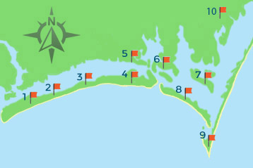 Crystal Coast Map