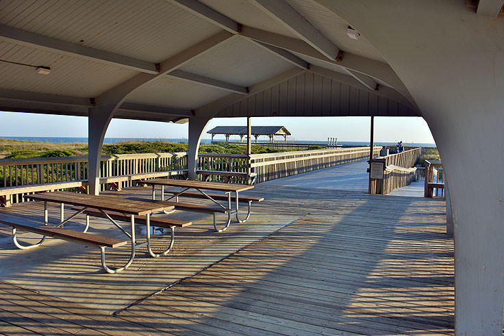 Covered picnic shelter at Picnic Park, Atlantic Beach, NC