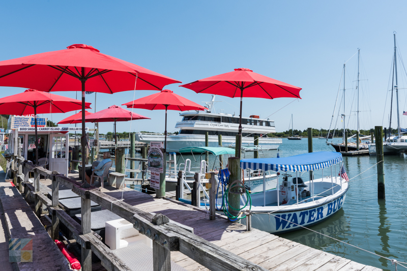 Many boat tours are located along the Beaufort waterfront