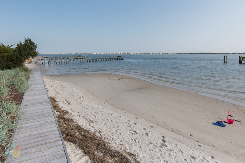 Beach access on Sunset Drive in Morehead City NC