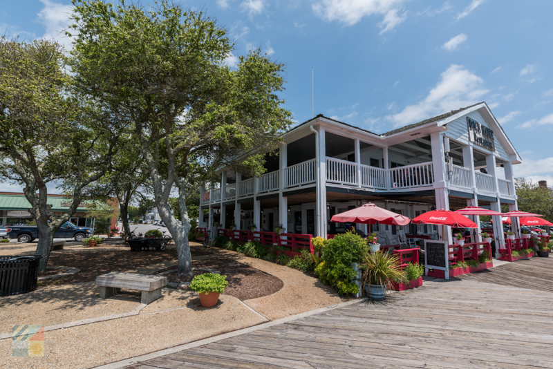 Waterfront dining in nearby Beaufort NC