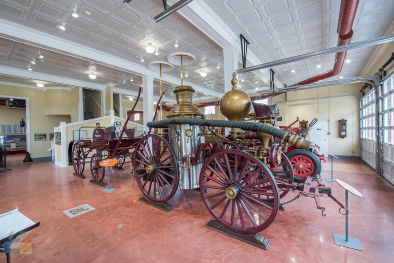 Antique fire trucks at the New Bern Firemans Museum