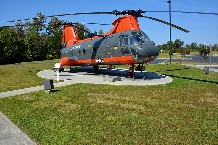A helicopter at the Havelock Tourist and Event Center