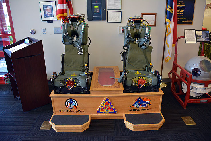F-4 Ejection seats at the Havelock Tourist and Event Center